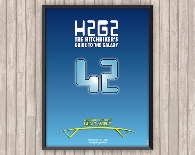 H2G2 Le Guide du voyageur galactique (H2G2 The Hitchhiker's Guide to the Galaxy), l'affiche revisitée par Lino la Tomate !
