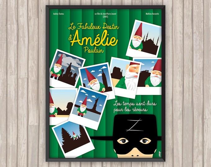 Le Fabuleux Destin d'AMÉLIE POULAIN, l'affiche revisitée par Lino la Tomate !