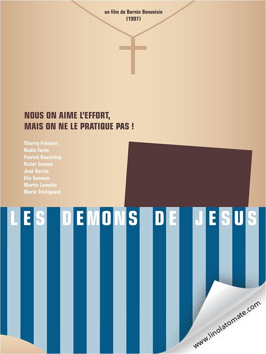Les Demons De Jesus L Affiche Revisit 233 E Par Lino La Tomate