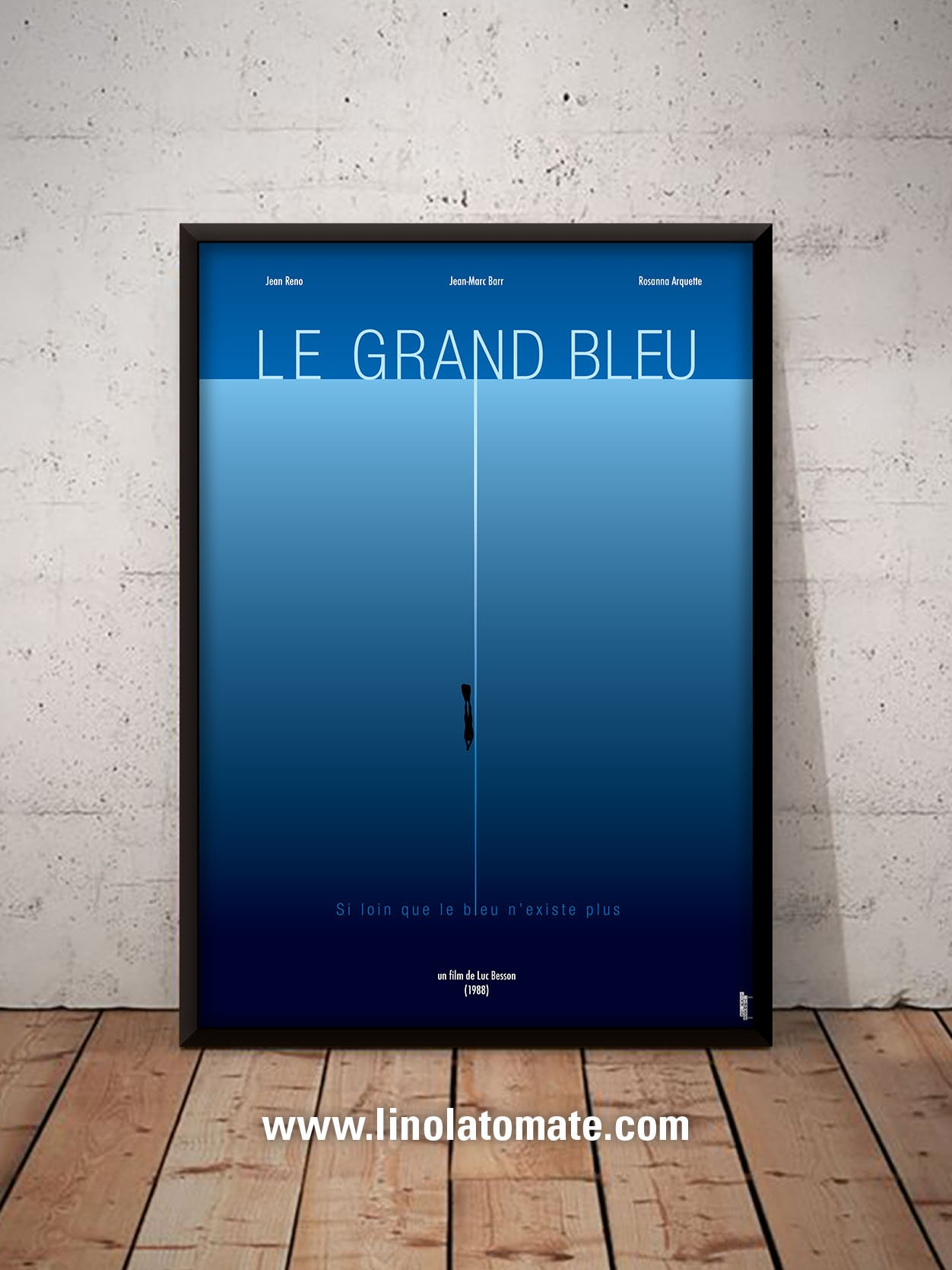 Le Grand Bleu L Affiche Revisit 233 E Par Lino La Tomate