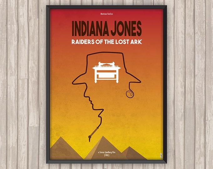 INDIANA JONES Les Aventuriers de l'Arche Perdue (Raiders of the Lost Ark), l'affiche revisitée par Lino la Tomate !
