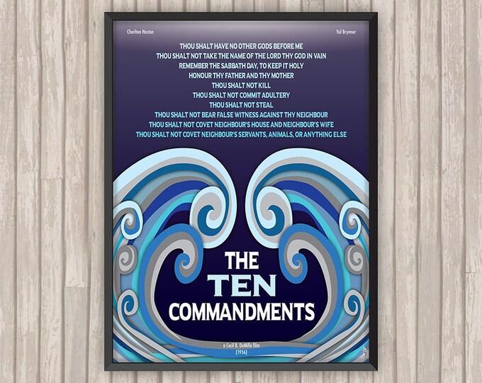 LES DIX COMMANDEMENTS (The Ten Commandments), l'affiche revisitée par Lino la Tomate !