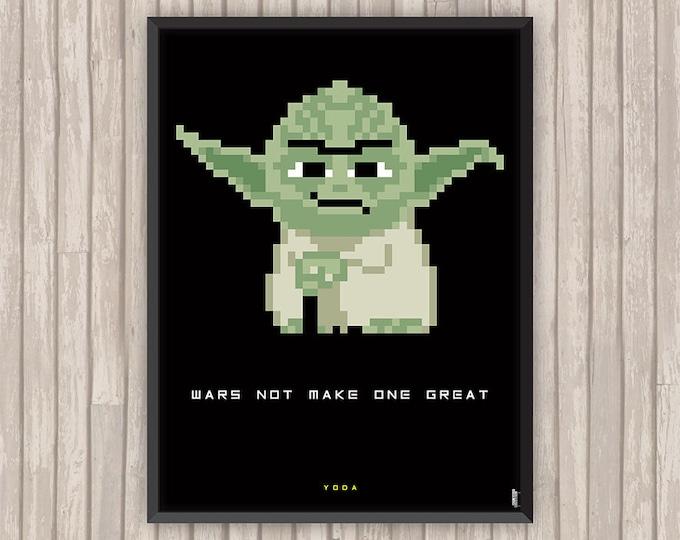 STAR WARS, Yoda, Pixel art, l'affiche revisitée par Lino la Tomate !