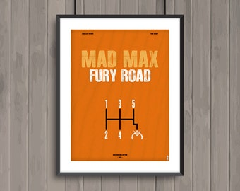 MAD MAX Fury Road, minimalist movie poster