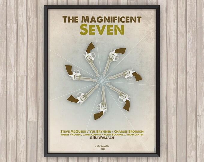 LES SEPT MERCENAIRES (The Magnificent Seven), l'affiche revisitée par Lino la Tomate !