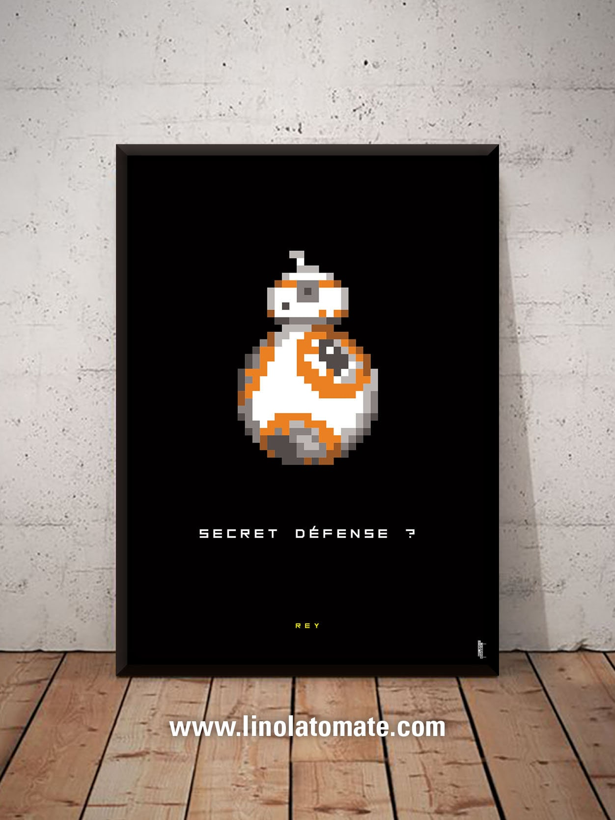 Star Wars Rey Bb 8 Pixel Art L Affiche Revisit 233 E Par