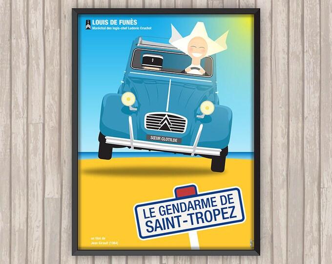 Le GENDARME de SAINT-TROPEZ, l'affiche revisitée par Lino la Tomate !