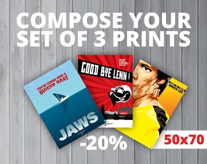 3 affiches au choix / Your set of 3 prints (50x70 cm) (-20%)