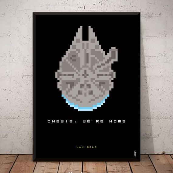 Movie Poster Star Wars Han Solo Pixel Art