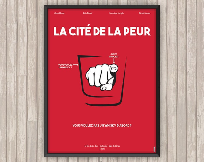 La Cité de la Peur, affiche (re)visitée (version Rouge)
