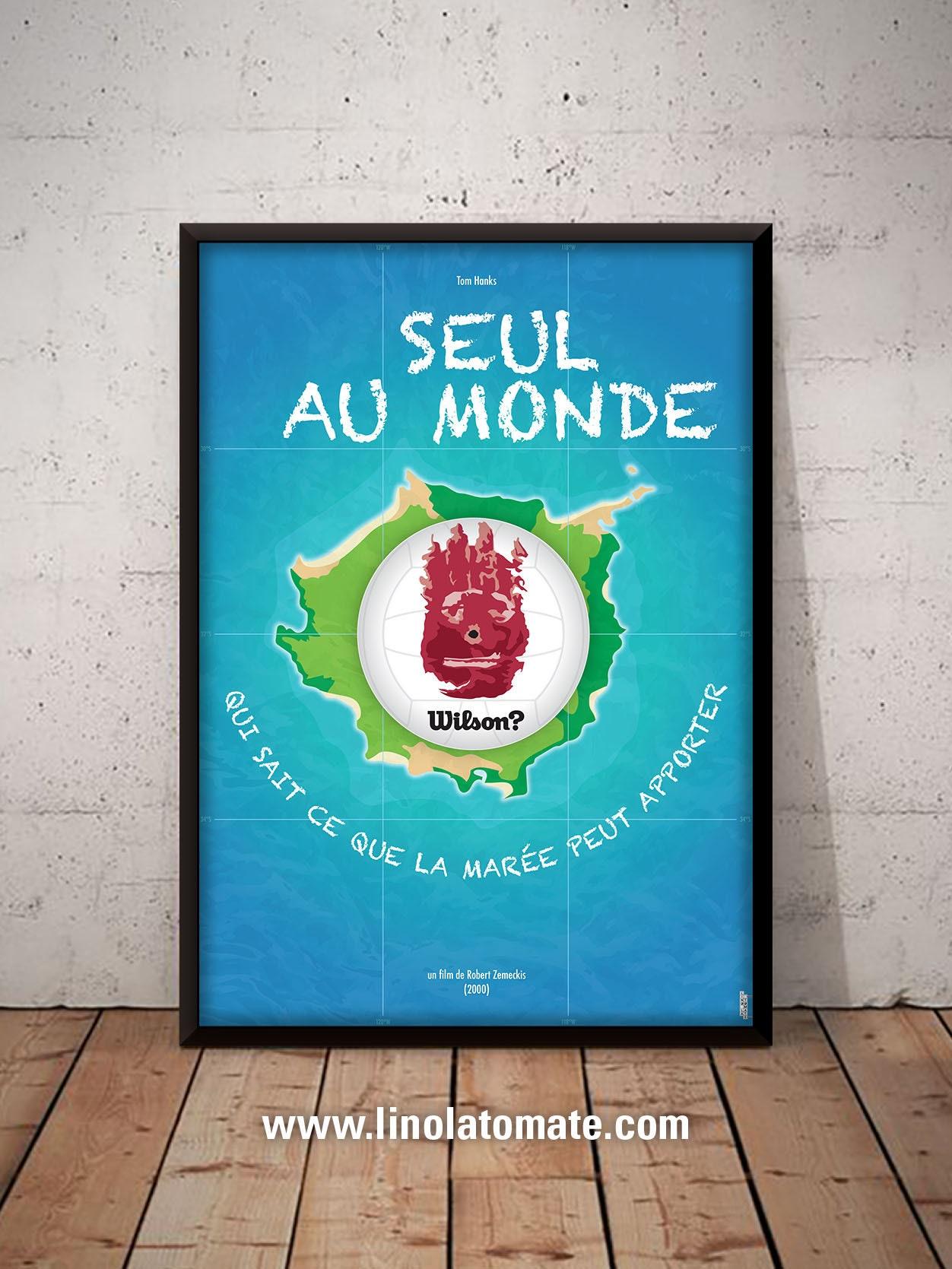 Seul Au Monde Cast Away L Affiche Revisit 233 E Par Lino La