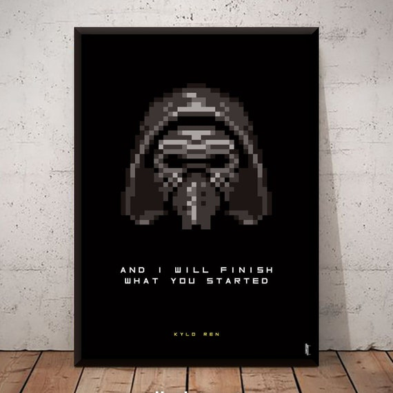 Movie Poster Star Wars Kylo Ren Pixel Art