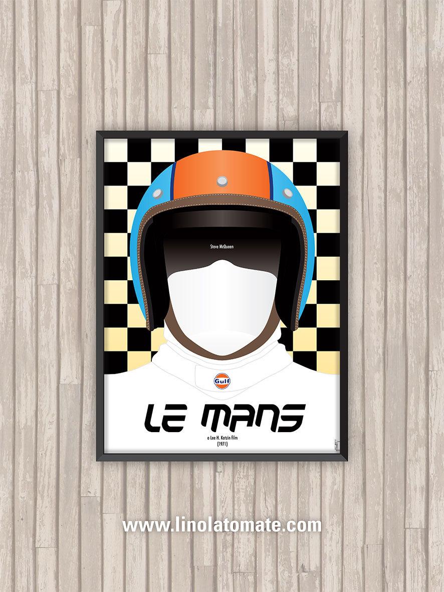 Le Mans L Affiche Revisit 233 E Par Lino La Tomate