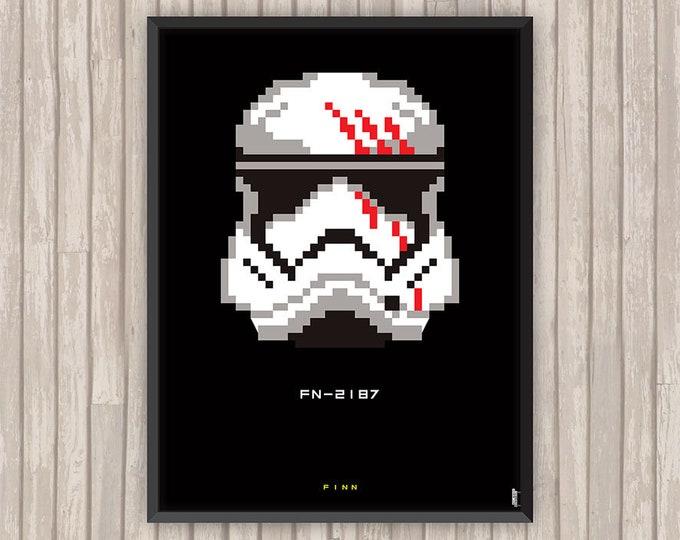 STAR WARS, Finn, Pixel art, l'affiche revisitée par Lino la Tomate !