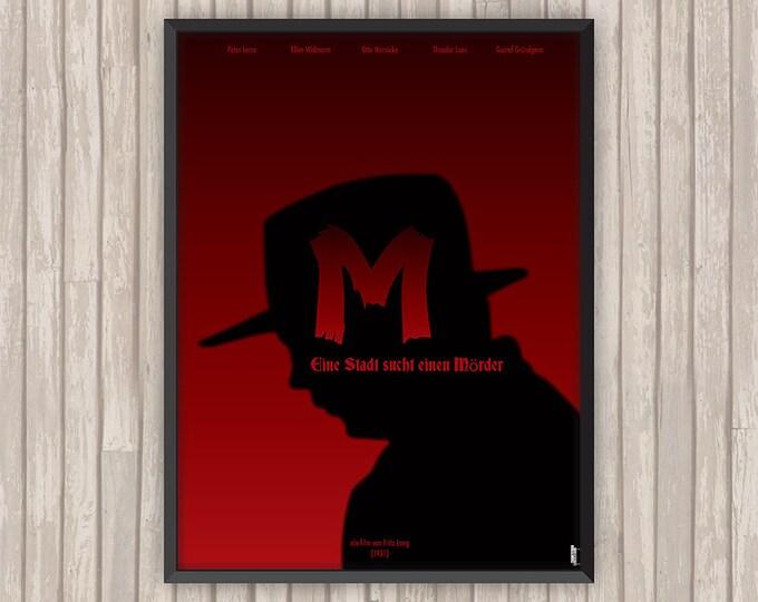 M LE MAUDIT (M Eine Stadt einem Mörder), l'affiche revisitée par Lino la Tomate !
