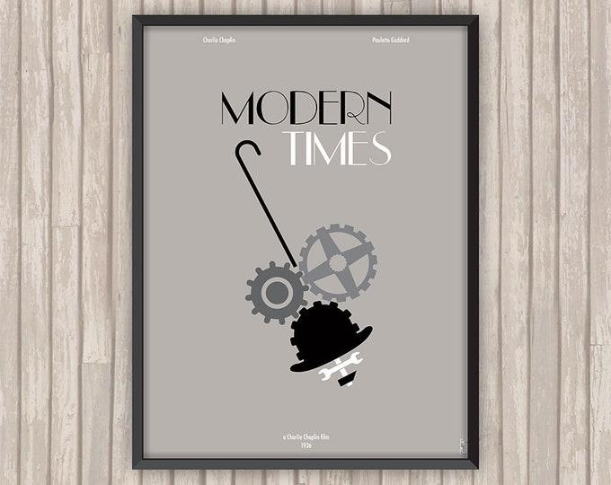 LES TEMPS MODERNES (Modern Times), l'affiche revisitée par Lino la Tomate !