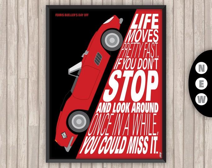 La Folle Journée de FERRIS BUELLER (Ferris Bueller's day off), l'affiche revisitée par Lino la Tomate ! (version alternative)