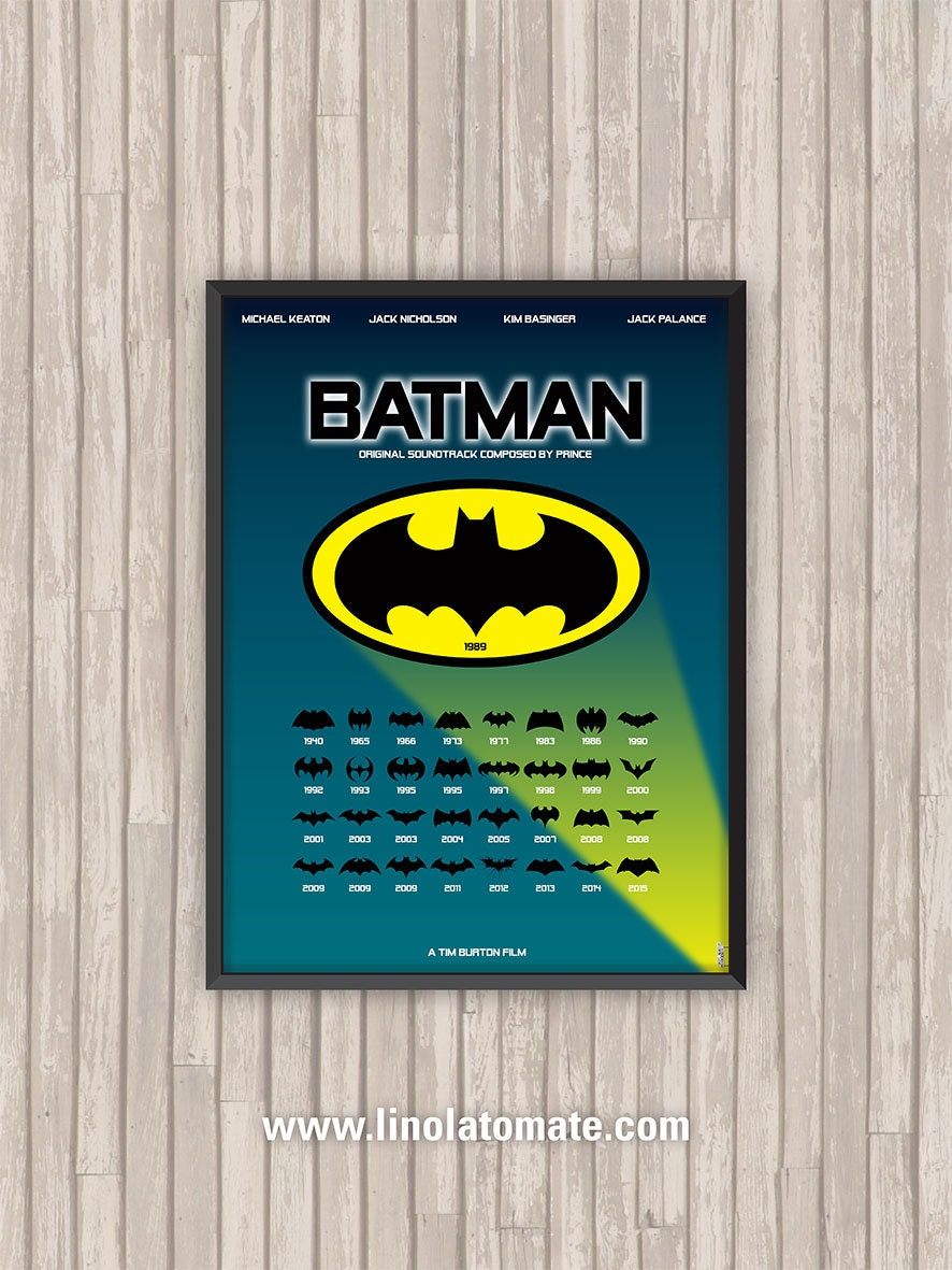 Batman L Affiche Revisit 233 E Par Lino La Tomate