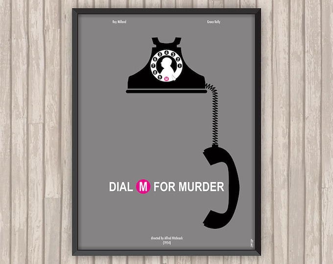 Le CRIME était PRESQUE PARFAIT (Dial M for Murder), l'affiche revisitée par Lino la Tomate !