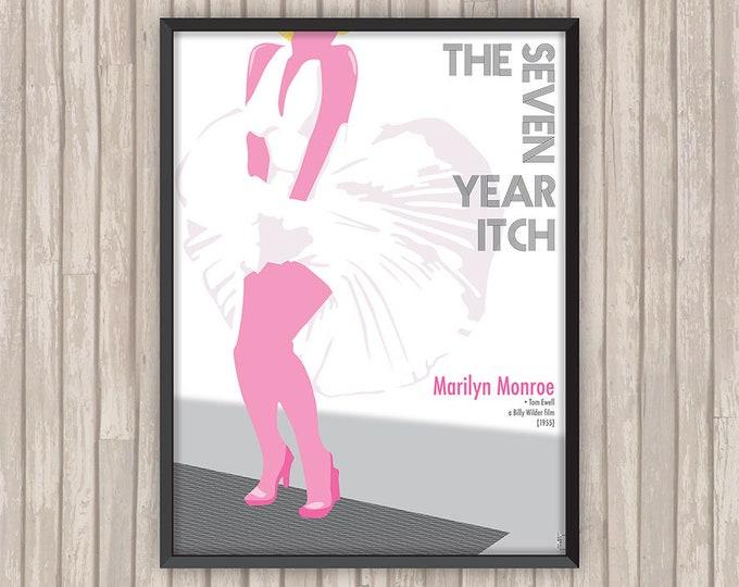 SEPT ANS de RÉFLEXION (The Seven Year Itch), l'affiche revisitée par Lino la Tomate !
