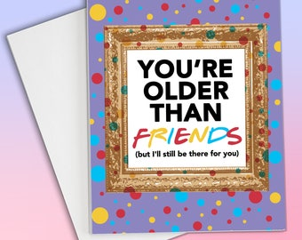 Birthday card friend etsy friends tv show friends birthday card friends gift friends card 90s birthday card card for best friend best friend birthday card m4hsunfo