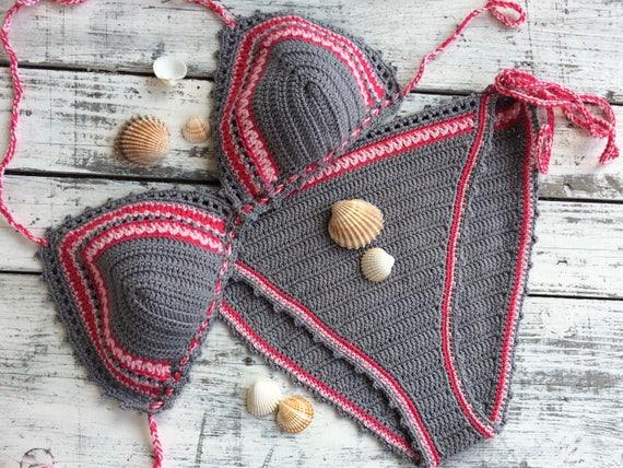 bikini bikini Crochet bikini Boho Triangle cRcWvpAB