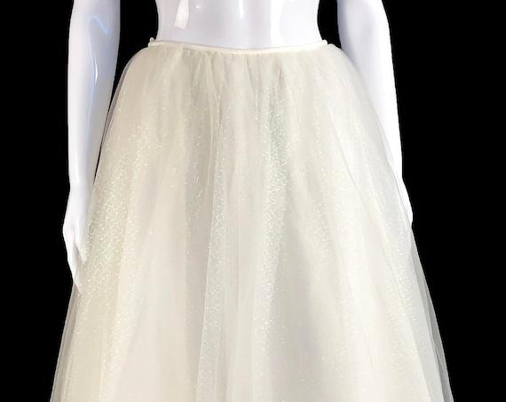 Mon Cheri Bridal Wedding Fairytale White Sparkly Tulle Skirt (SKU 10846CL)