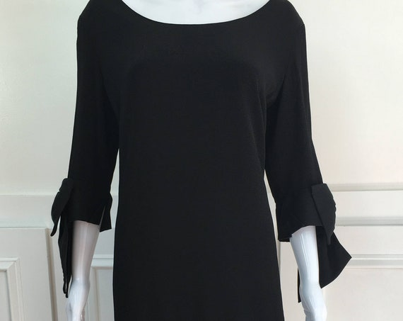 Badgley Mischka for Neiman Marcus Early 1990s Black Cocktail Dress US Size Large  (SKU 10189CL)