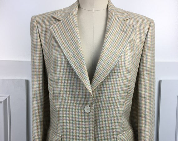 Brooks Brothers Blazer Made in Italy Plaid blazer 1990s (SKU 10809CL)