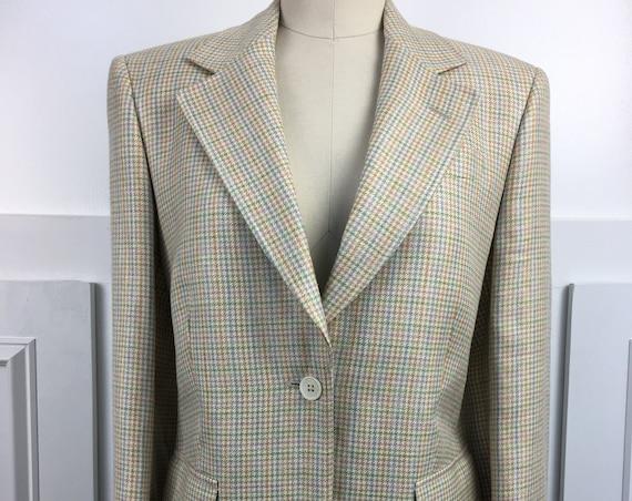 Brooks Brothers Blazer Made in Italy Plaid blazer 1990s (SKU 10809CL)