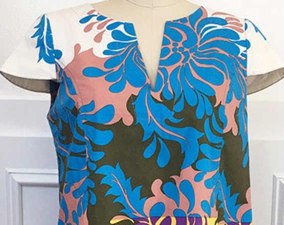 Tibi New York Bold Print Stretchy Summer Dress--SIZE 4 (10173CL)