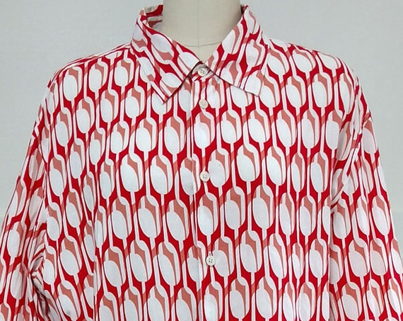 Armani Exchange 1990s Shirt Blouse--Men's Large/Wms PLUS  (SKU 10379CL)
