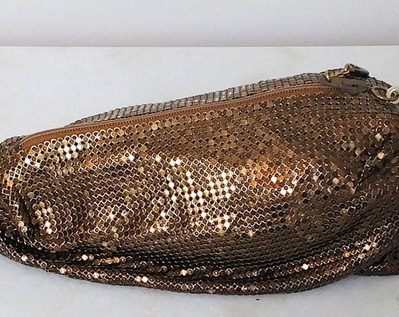 Copper Chainmail Chic Clutch 1980s Clutch (SKU 10286HA)