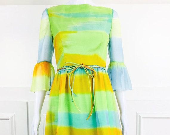 Mollie Parnis Boutique Boho Maxi Dress with Shawl 1970s (SKU 10652CL)