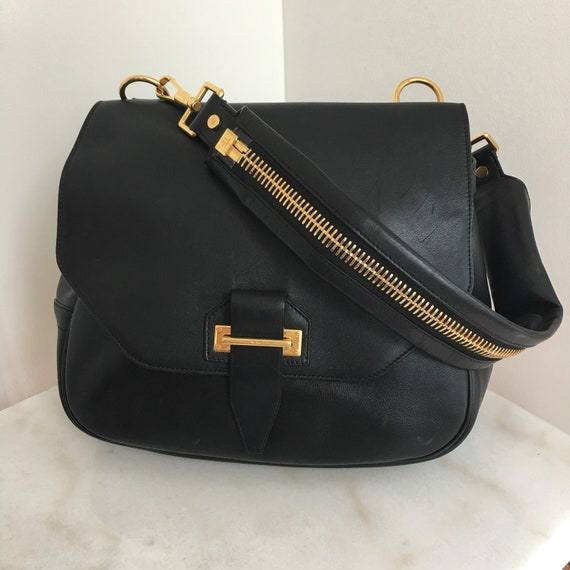 "Utimate Statement Tom Ford Large Black ""Jennifer"" Bag—Like New!!  (10202HA)"