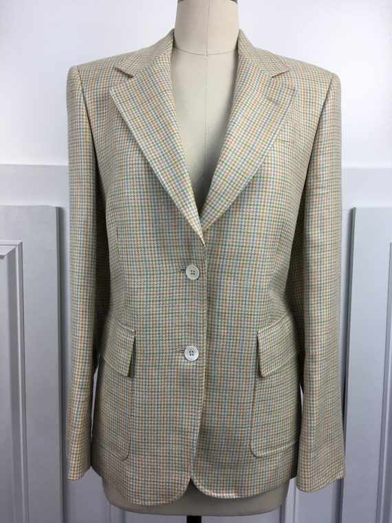 Brooks Brothers Blazer Made in Italy Plaid blazer