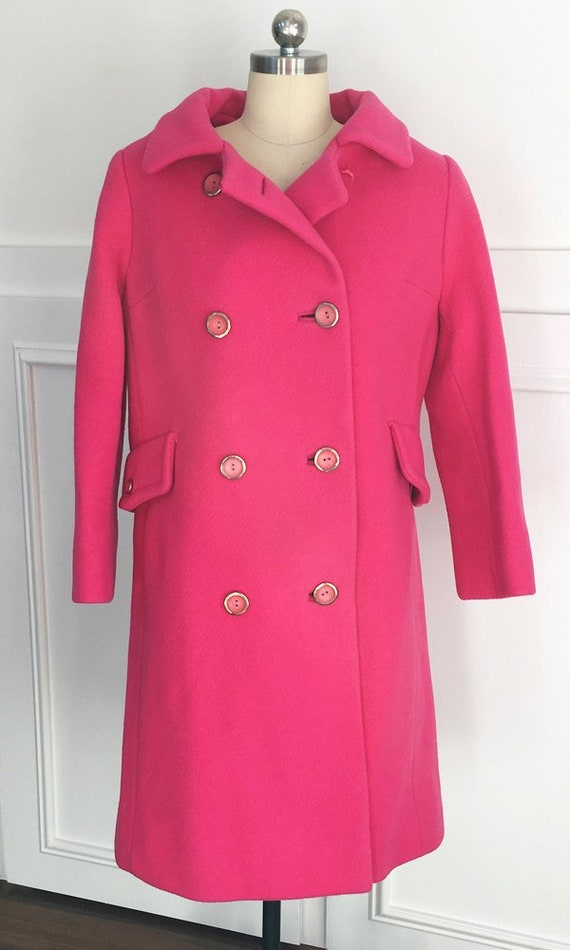 Hot Pink Totally MOD Carnaby Street Double Breaste
