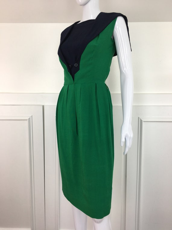 Mademoiselle Ricci Paris 1950's Color Block Green