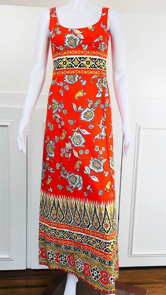 Lanz Original Orange sleeveless 70's vintage full