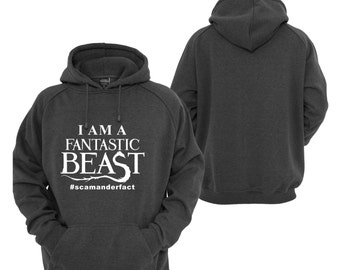 Harry potter Fantastic Beasts Inspired Black Hoodie Essential Clothing Present Gift