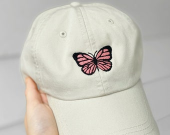 Swallowtail Butterfly Embroidered Cotton Cap NEW Hat