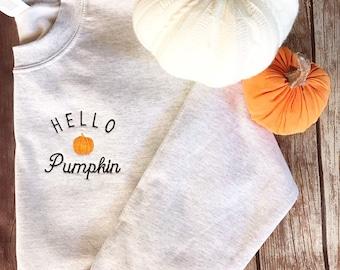 Hello pumpkin sweatshirt | Fall Sweatshirt | Pumpkin Sweatshirt | Halloween Sweatshirt