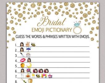 bridal shower game pictionary bridal pictionary emoji pictionary bridal shower game diy gold wedding shower games bachelorette party b34