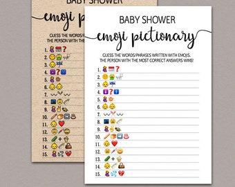 Baby Shower Emoji Game boy, Funny Baby Shower Game Printable Activity, baby shower emoji pictionary, baby shower emoji games printable B11
