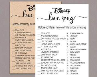 graphic regarding Guess the Disney Movie Song Printable known as Disney enjoy music Etsy