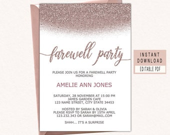 Farewell Invitation Etsy