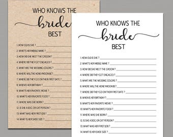 Know the bride etsy who knows the bride best how well do you know the bride who knows the bride best game kraft rustic bridal shower games printable pdf b11 maxwellsz
