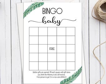 Rustic Baby Shower Bingo Cards Baby Shower Bingo Printable Etsy