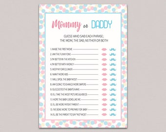 photograph about Printable Gender Reveal Games identified as Gender describe video games Etsy