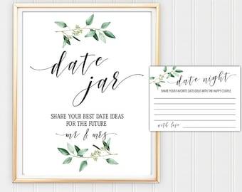 Date Jar Printable Etsy